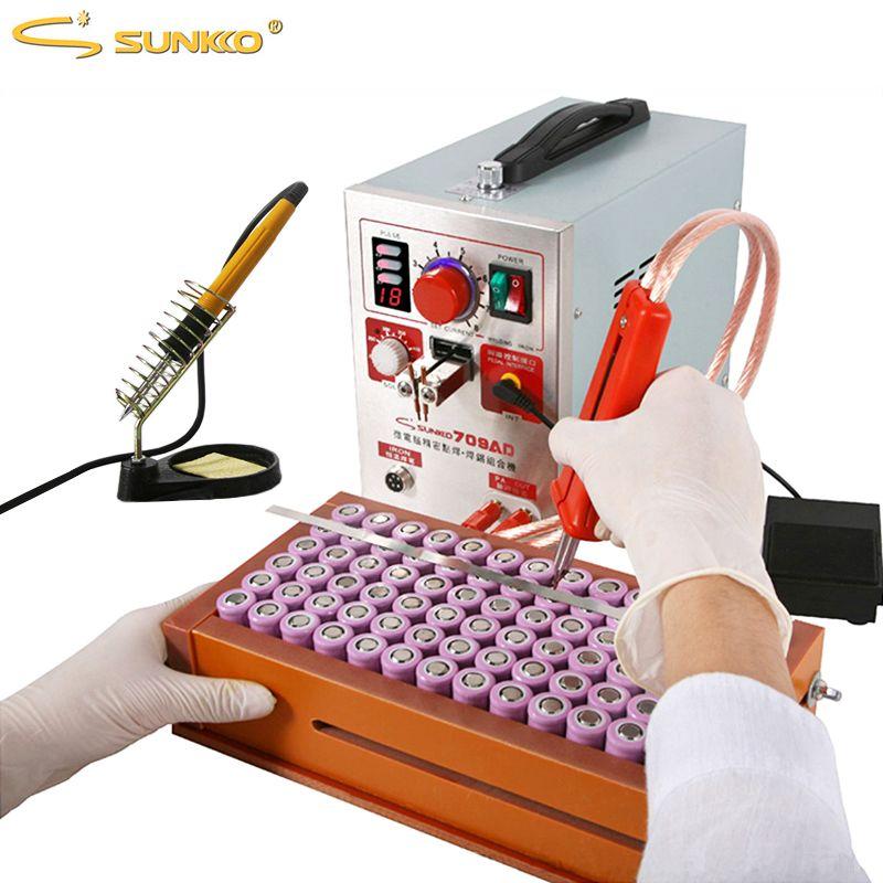 SUNKKO 709AD Spot Welder High Power Pulse Battery Spot Welding LCD Digital Display For 18650 Battery Pack Soldering Weld Machine