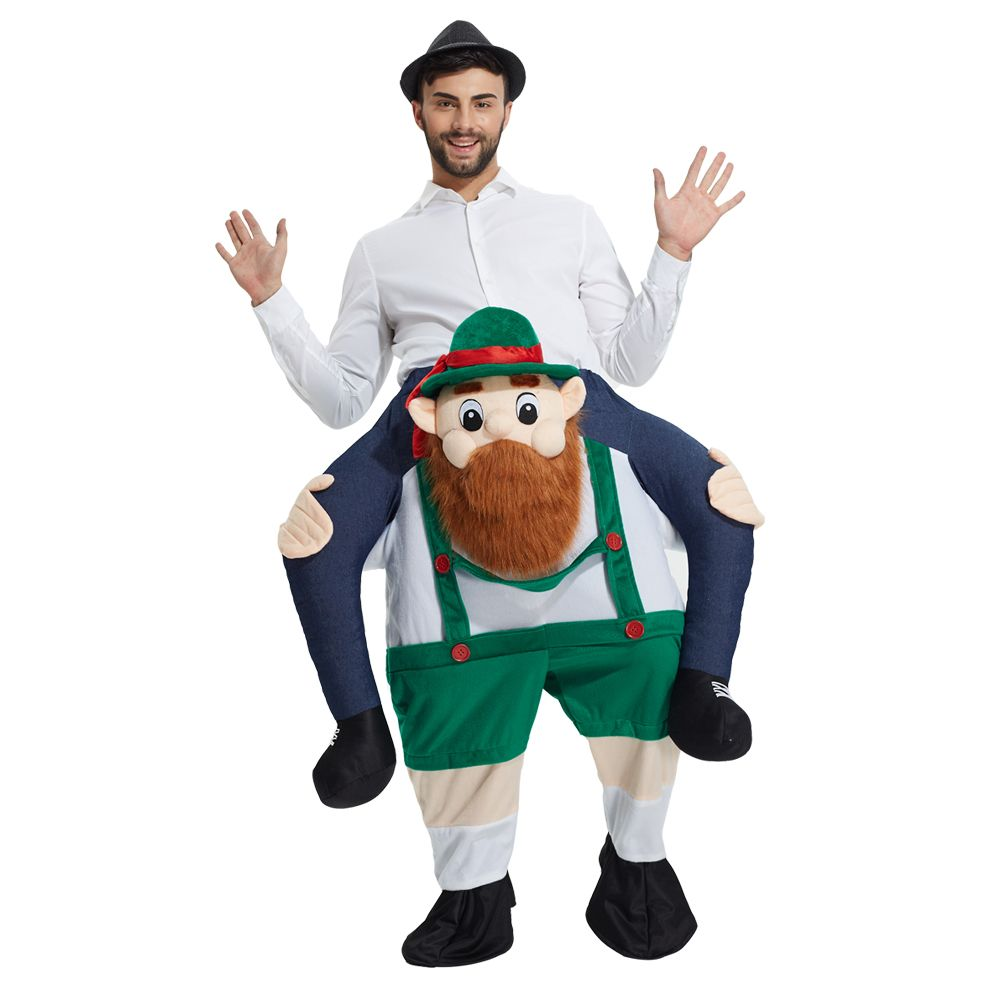 Adult Unisex Mascot Costumes Ride on Me Costume Funny Fancy Dress outfit Sexy Frog Pants With False Human Leg