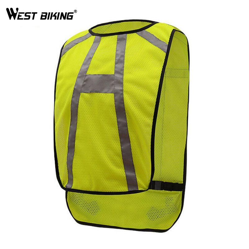 WEST RADFAHREN Reflektierende Radfahren Weste Radfahren Jersey Sicherheit Warnung Nachtfahrten Kleidung Schutz Jersey Fahrrad Weste