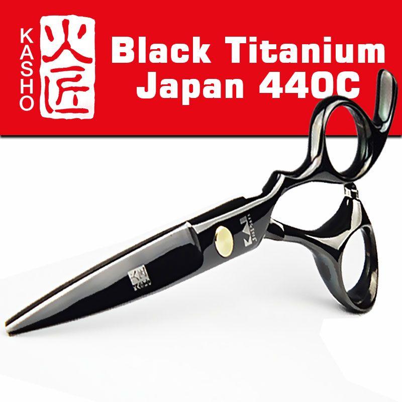 Япония 440c KASHO Ножницы для парикмахеров Парикмахерская поставки Титан Профессиональный Парикмахерские Ножницы для Резка волос