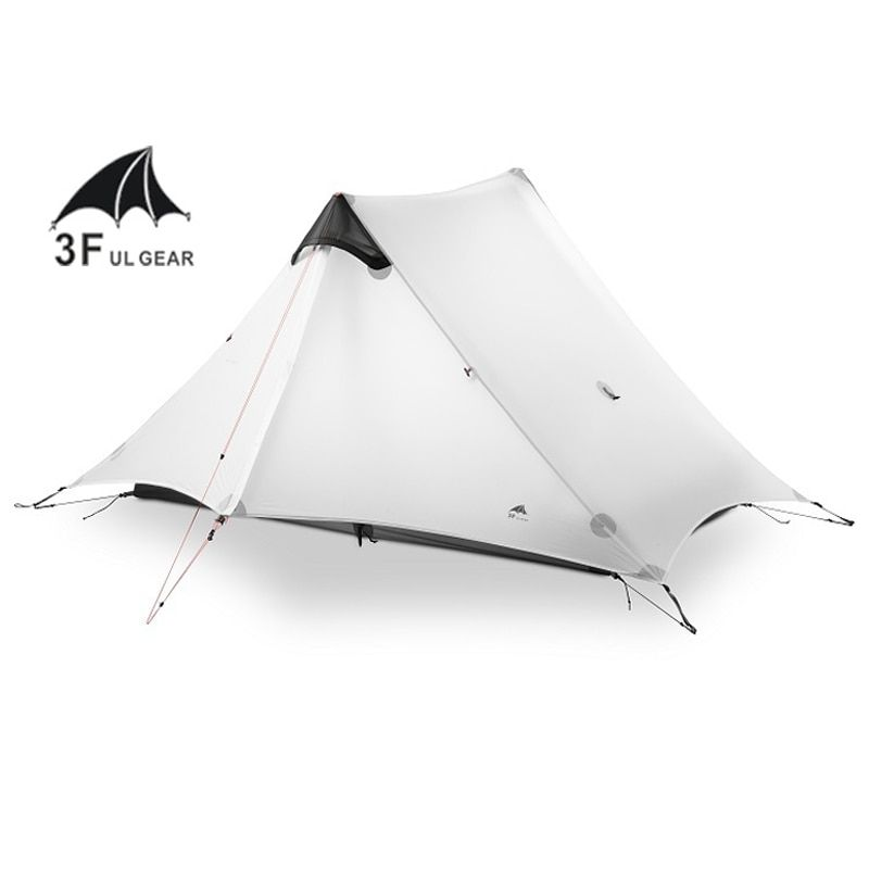 3F UL GEAR 2 People Oudoor Ultralight Camping Tent 3 Season 1 Single Person Professional 15D Nylon Silicon Coating Rodless Tent