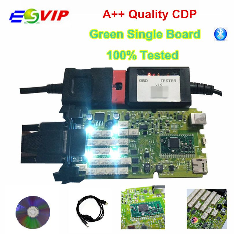 New arrival Green Single Board TCS CDP PRO PLUS +Generic 3 in 1 New NEC Relays bluetooth 2015 R3 keygen Diagnostic tool Scanner