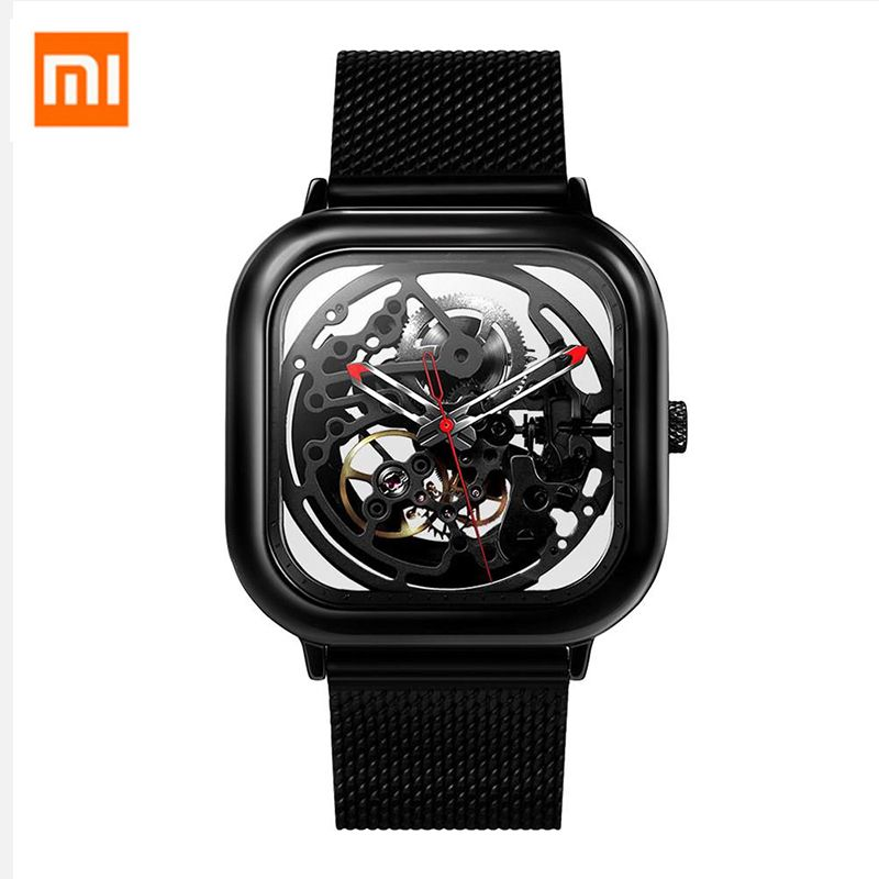 Xiaomi CIGA Wristwatch Hollow <font><b>Mechanical</b></font> Stainless Steel Braided Band Automatic <font><b>Mechanical</b></font> Core Men's Watch