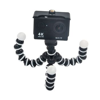 Universal Octopus Mini Tripod Stand with phone Clip Mount For Gopro Hero EKEN SJcam Action Camera Android / IOS Mobile phone