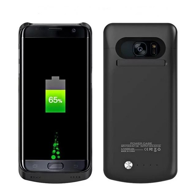 Ultra Mince De Secours Externe Batterie Chargeur Cas Powerbank Couverture Pour Samsung Galaxy S7 G9300 4200 mAh/S7 Bord G9350 5200 mAh