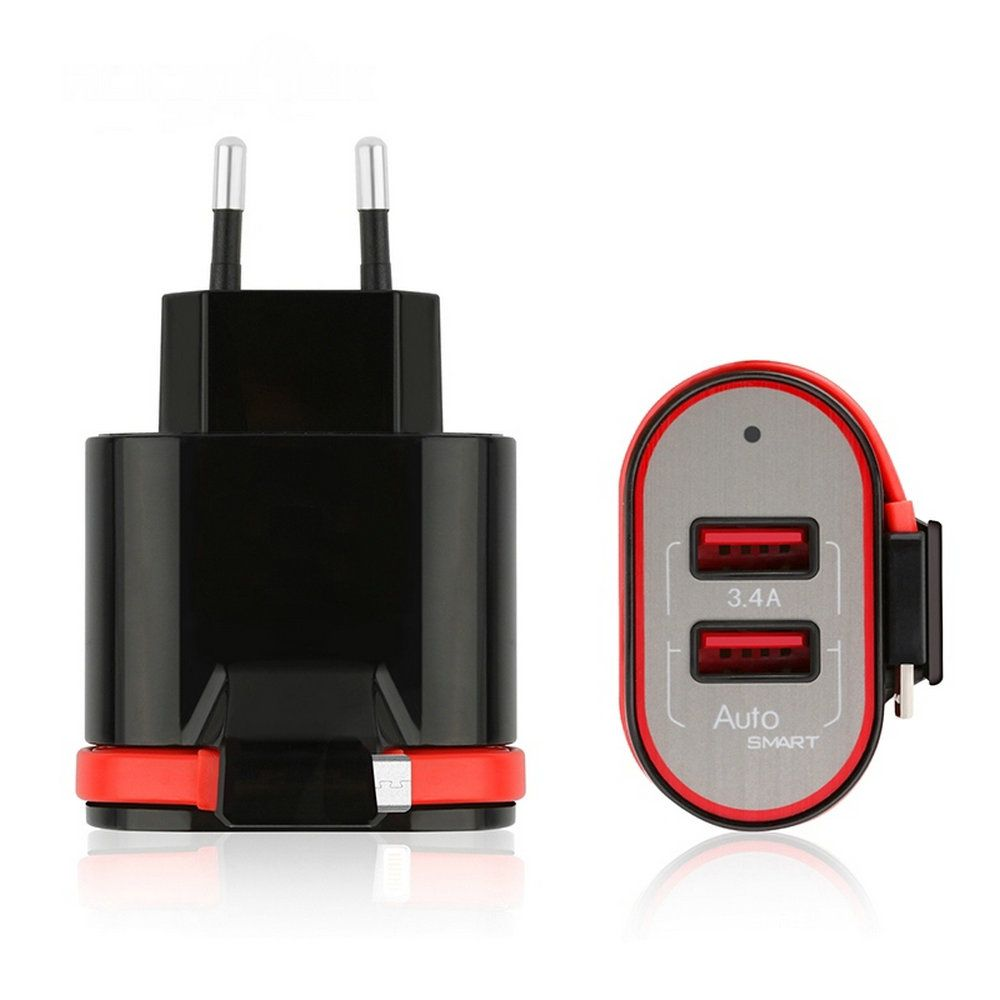 VECDORY QC3.0 USB Port 3.4A Gamepads Fast Travel Charger Wall Power Fast Charging Adapter For Game Pad MP3 MP4 Camera Phone PC
