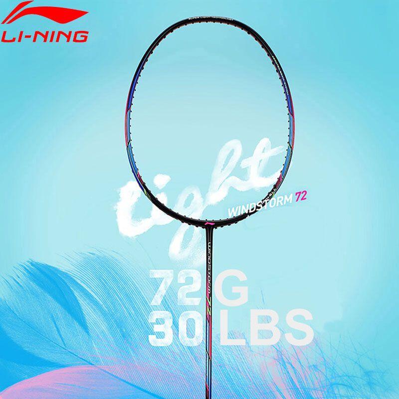 Li-Ning STURM 72 Badminton Schläger Einzigen Schläger Licht Professionelle Carbon Faser Futter Schläger AYPM084/AYPM192/AYPM204 ZYF235