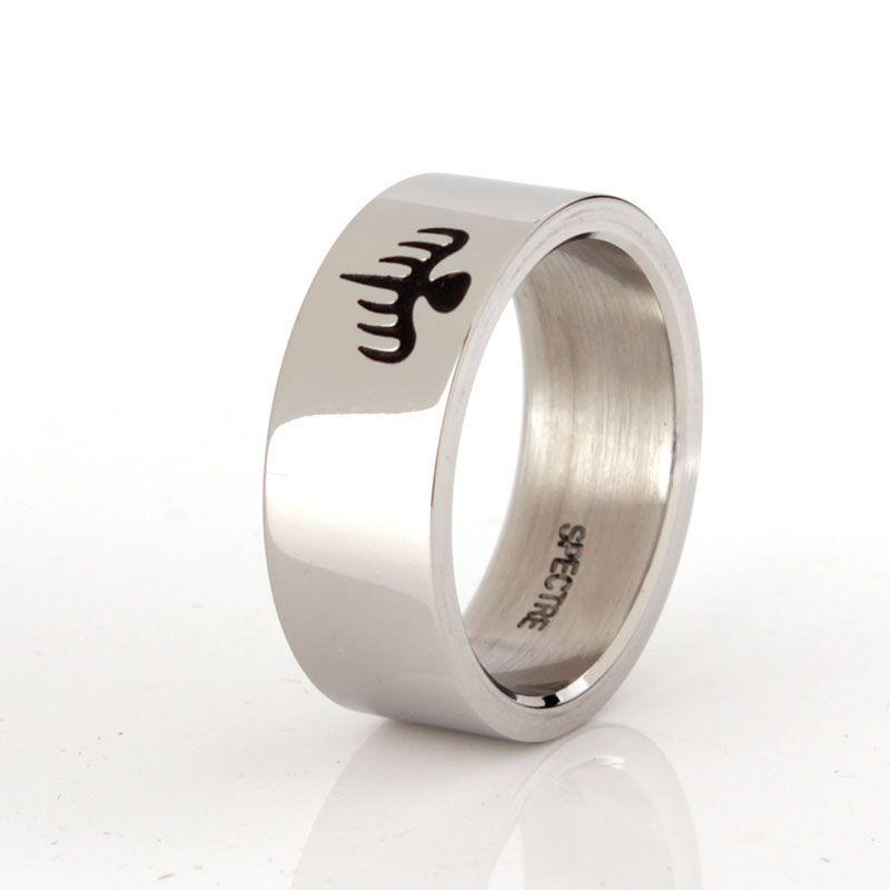 007 James Bond Spectre anneau poli inox Ring taille 7 8 9 10 11 12 beau cadeau pour 007 ventilateurs