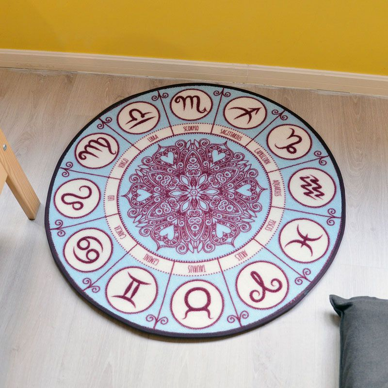 WINLIFE Creative Constellation Dial Pattern Carpets Decorative Mats For Living Room/Hotel/Bedroom Yoga  Play Mats Washable Rugs