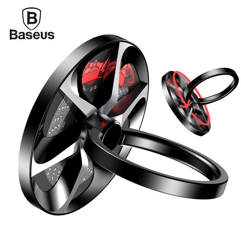 BASEUS ручной Spinner палец кольцо металлический держатель Непоседа палец Spinner мобильный телефон держатель для iPhone 7 Samsung S8 телефон кольцо