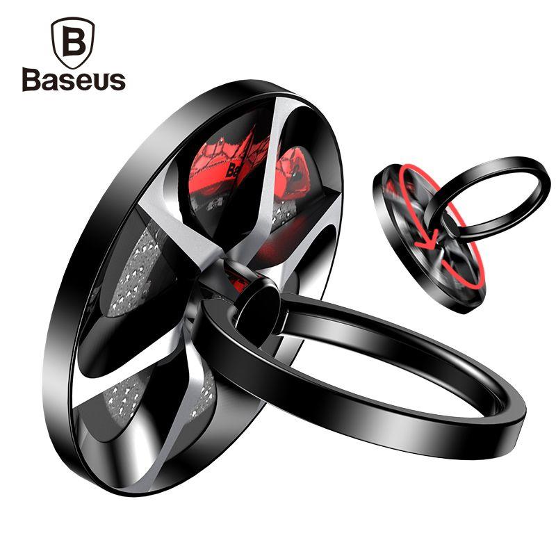 Baseus Hand Spinner Fingerring Halter Metall Zappeln Finger Spinner Handyhalter Ständer Für iPhone 7 Samsung S8 Telefon Ring
