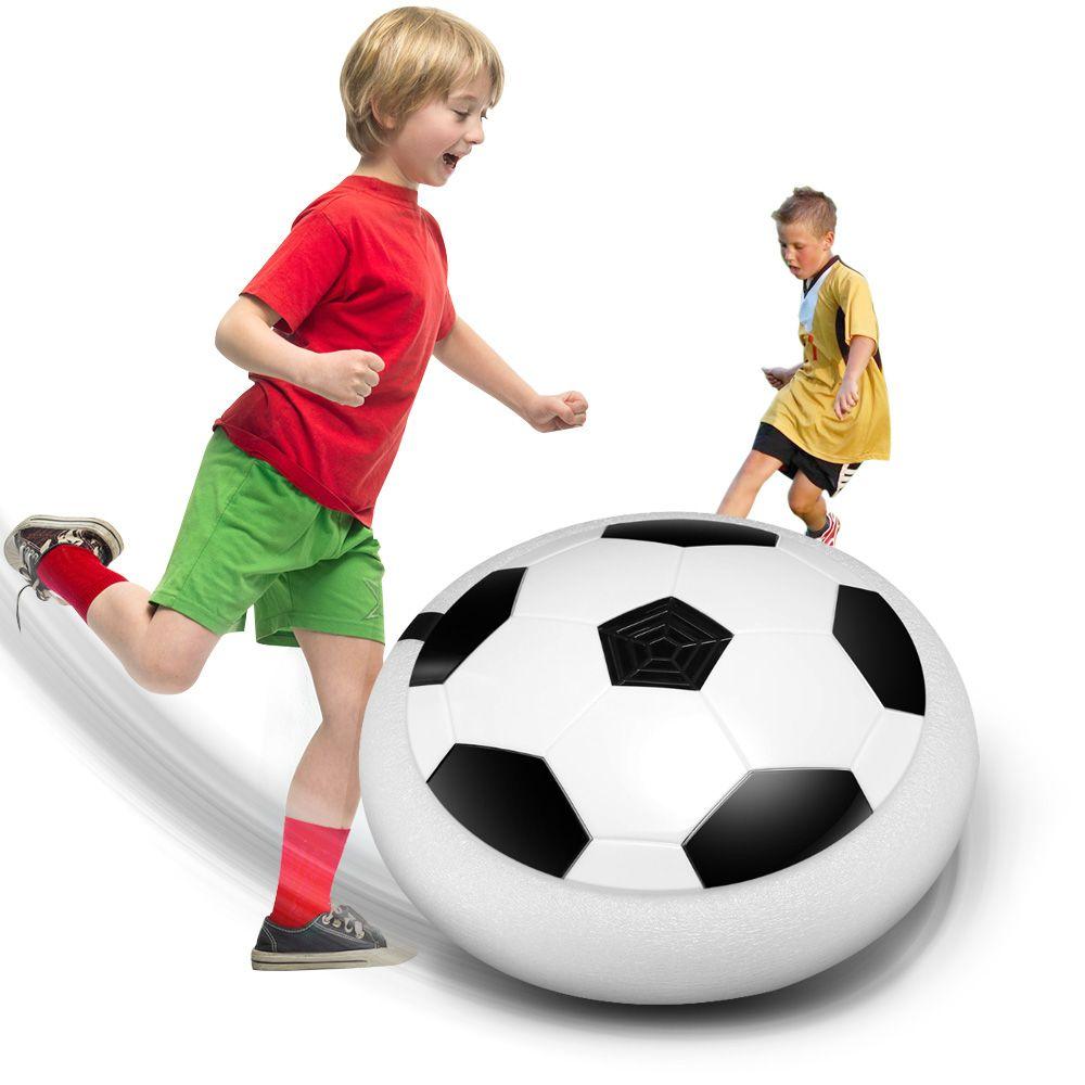 Chaude Hover Balle LED Lumière Clignotant Arrivée Air Puissance Ballon De Football Disque Intérieur Football Jouet Multi-surface Planant Et glisse Jouets