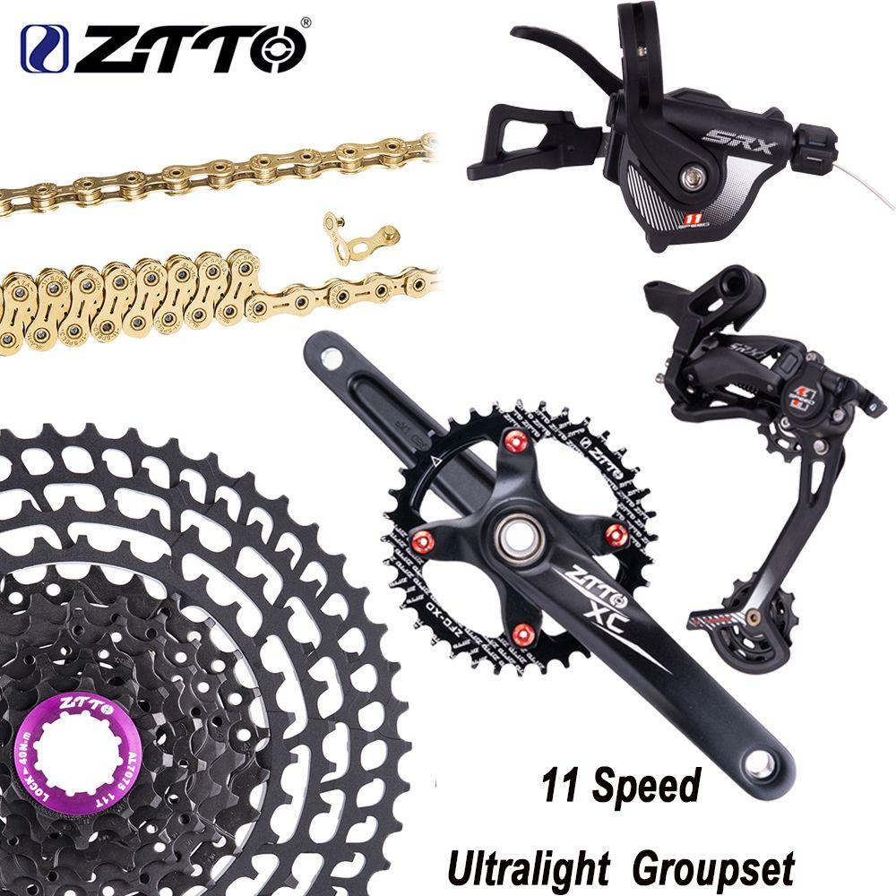 ZTTO 11 Fach-gruppe Schaltwerk Shifter Kurbelgarnitur Chain11-50T/52 T Kassette Ultraleicht Freilauf Gruppe Set VS M8000 M7000