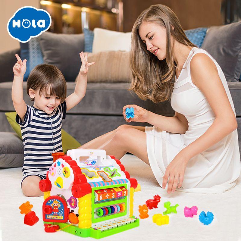HOLA 739 multifonctionnel jouets musicaux bébé Fun maison Musical électronique blocs géométriques tri apprentissage jouets éducatifs cadeaux