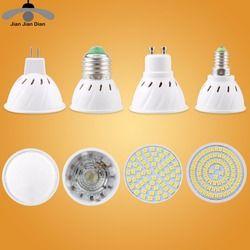 Ampoule Led Spotlight MR16 GU10 E27 E14 Spot Lampe cfl 2835 SMD Lampada Diode Économie D'énergie GU5.3 220 V 110 V 3 W Pour La Décoration Intérieure