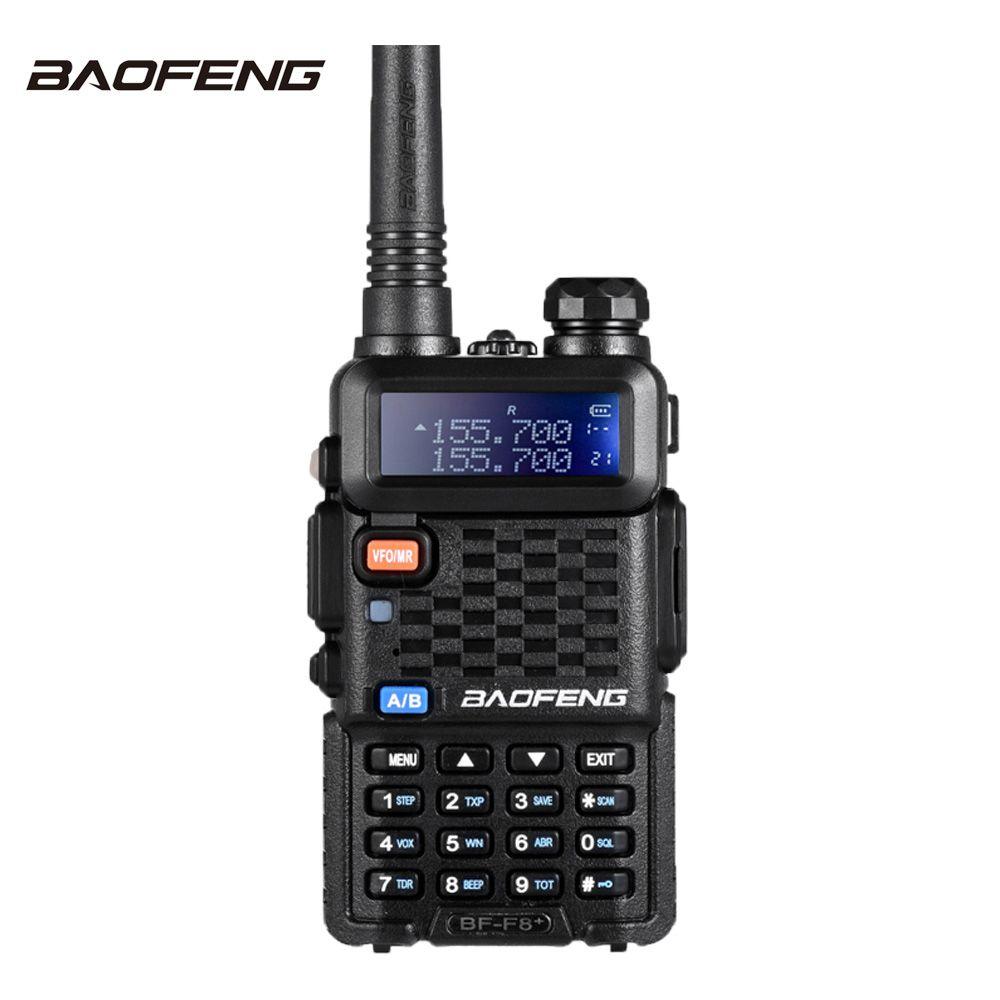Baofeng F8+ Walkie Talkie 10 km VHF UHF Dual Band Handheld Radio Transceiver Portable cb Ham Radio Talkie Walkie Two Way Radio
