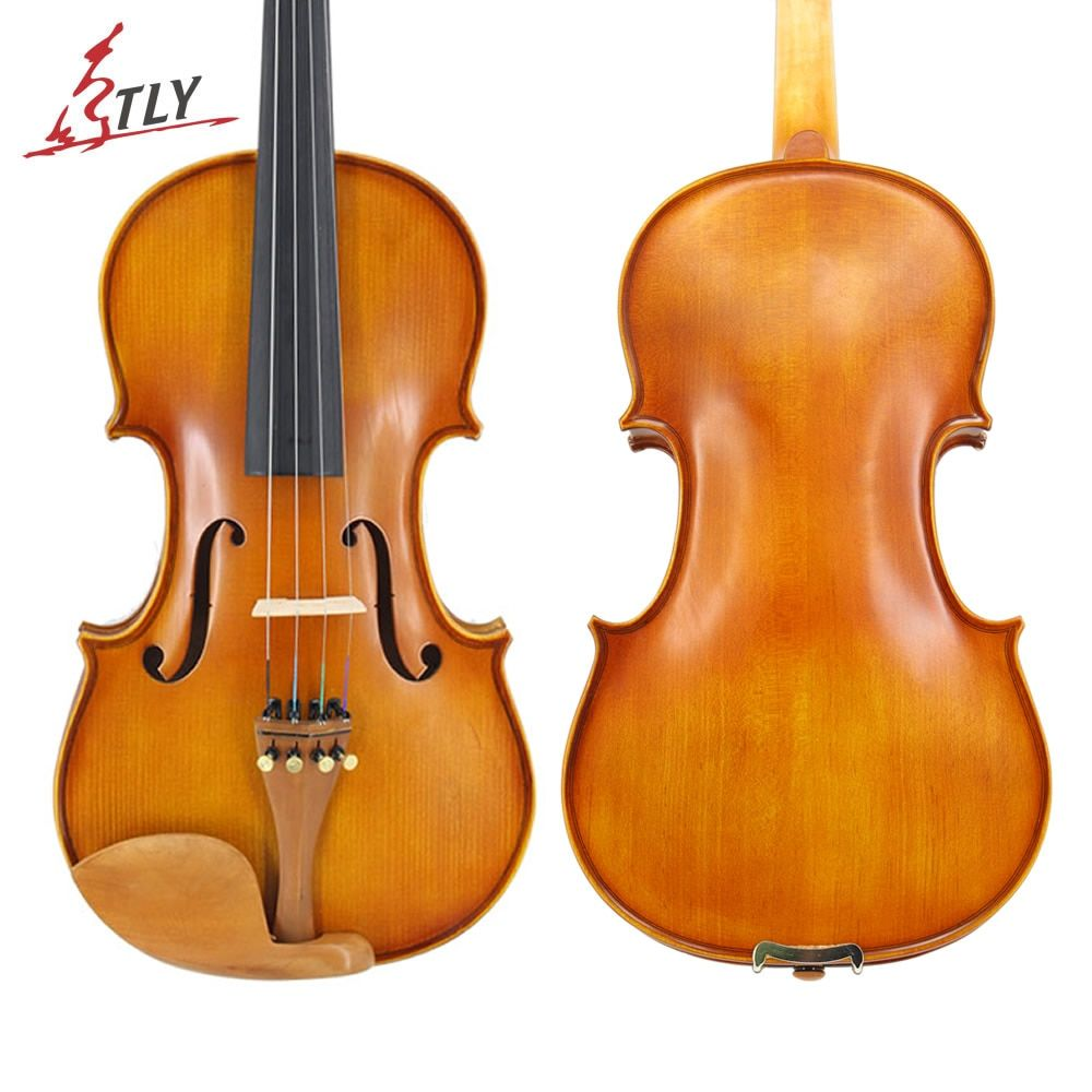 TONGLING Full Size Students Beginner Violin Matte Finish Spruce Face Maple Violin 1/8 1/4 1/2 3/4 4/4 Jujube Parts w/ Case Bow