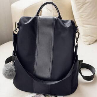 Shoulder bag, female bag, 2018 new Korean version, fashionable fashion, personalized 2017, Oxford canvas little schoolbag backp