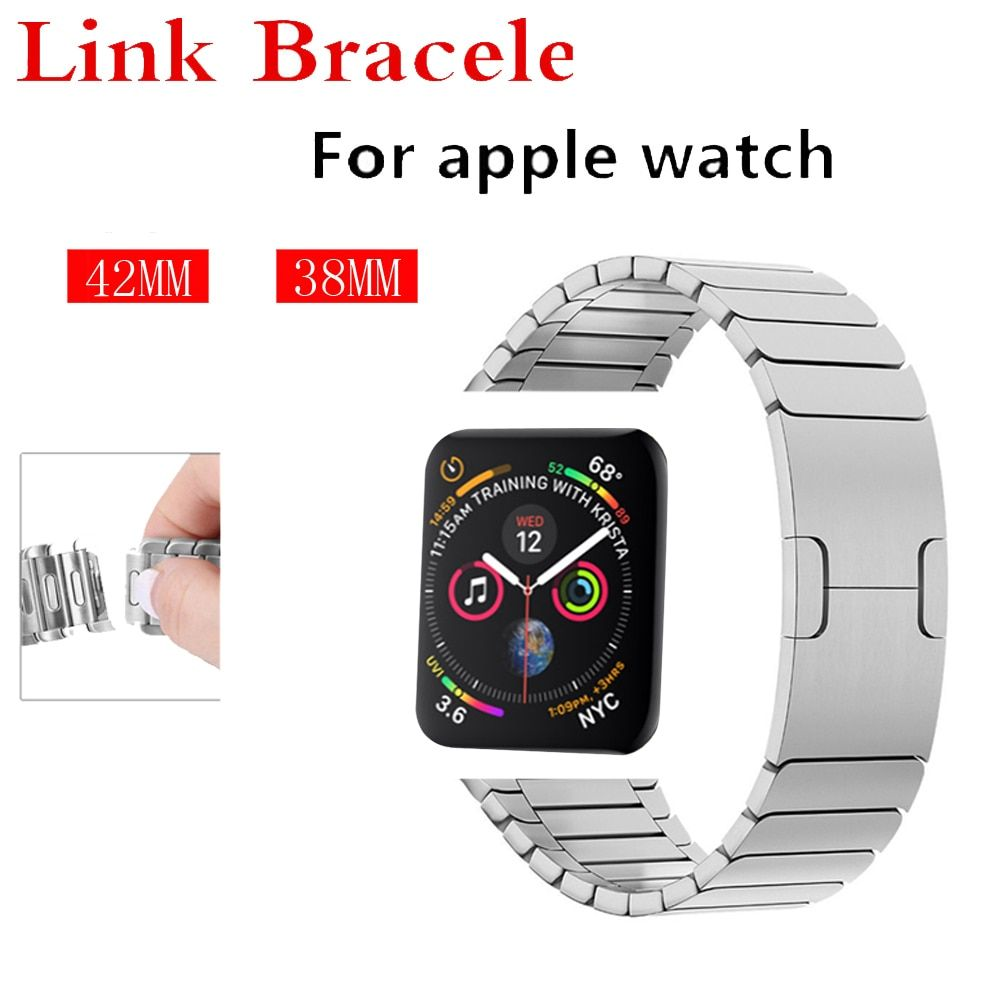 strap for apple watch band 44/42/40/38mm Link bracelet stainless steel metal bracelet removable watchband for iwatch 4/3/2/1