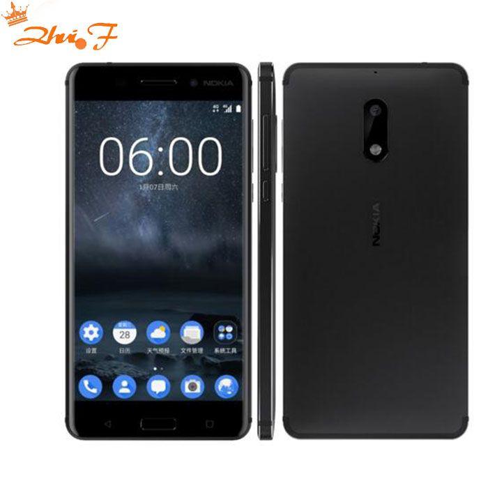Nouvelle Chaude D'origine Nokia 6 LTE 4g Mobile Téléphone Android 7 Qualcomm Octa Core 5.5 ''D'empreintes Digitales 4g RAM 64g ROM 3000 mah 16MP Nokia6