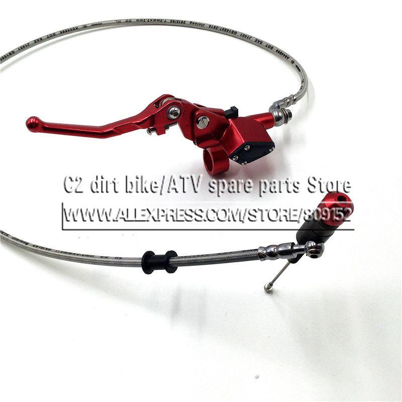 Hydraulique d'embrayage 1200mm levier maître cylindre for125-250cc Vertical Moteur Hors route Moto Pit Dirt Bike Motocross