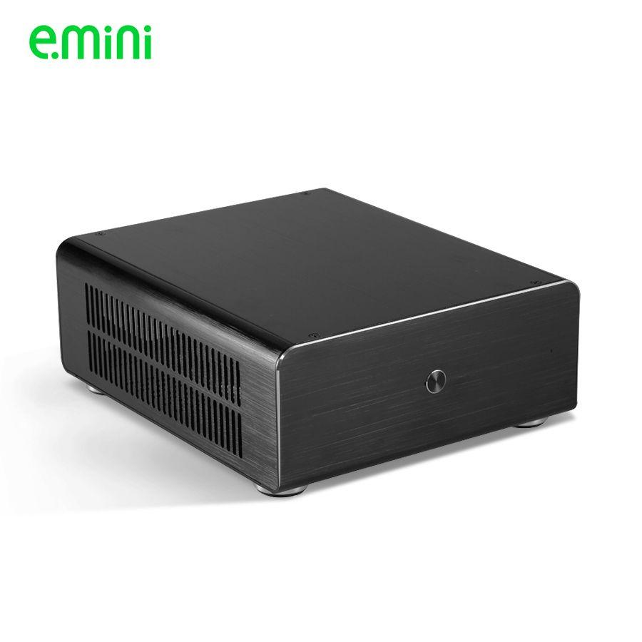 Marque mini itx pc cas pour personnalisé ordinateur PC en aluminium transparent