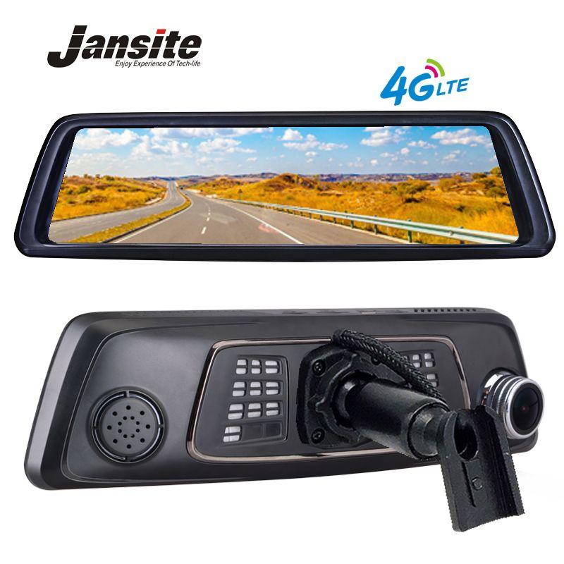 Jansite 10 Full Touch IPS auto dvr 4G Android Spiegel GPS FHD 1080P Dual objektiv Auto DVR fahrzeug rückspiegel kamera ADAS BT WIFI