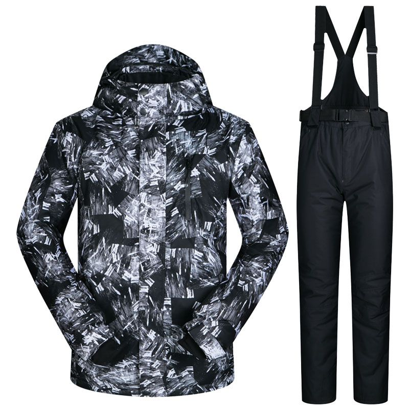 2017 New Winter Ski Suit Men Outdoor Thermal Waterproof Windproof Snowboard Jackets Pants Climbing Snow Skiing Clothes Set Brand
