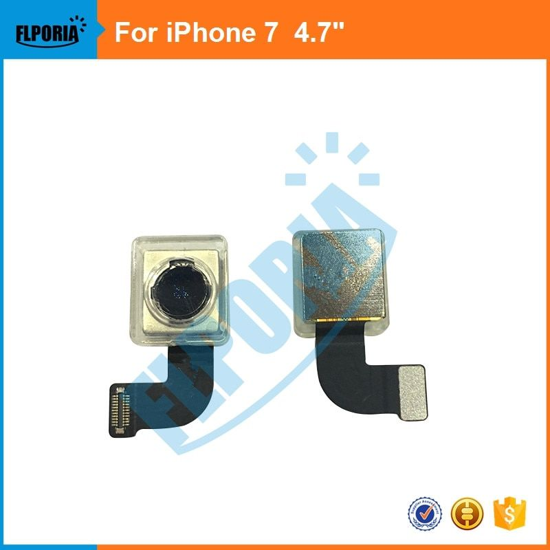 FLPORIA 1PCS 100% Tested For iPhone 7 7G  Rear Back Big Camera Module  Flex Replacement parts For iPhone 7 7G 4.7 Cable