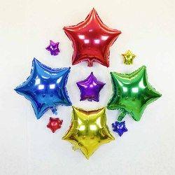 Globo de helio boda estrella grande de papel de aluminio globos de aire inflables regalo de cumpleaños decoración del partido 10 pulgadas