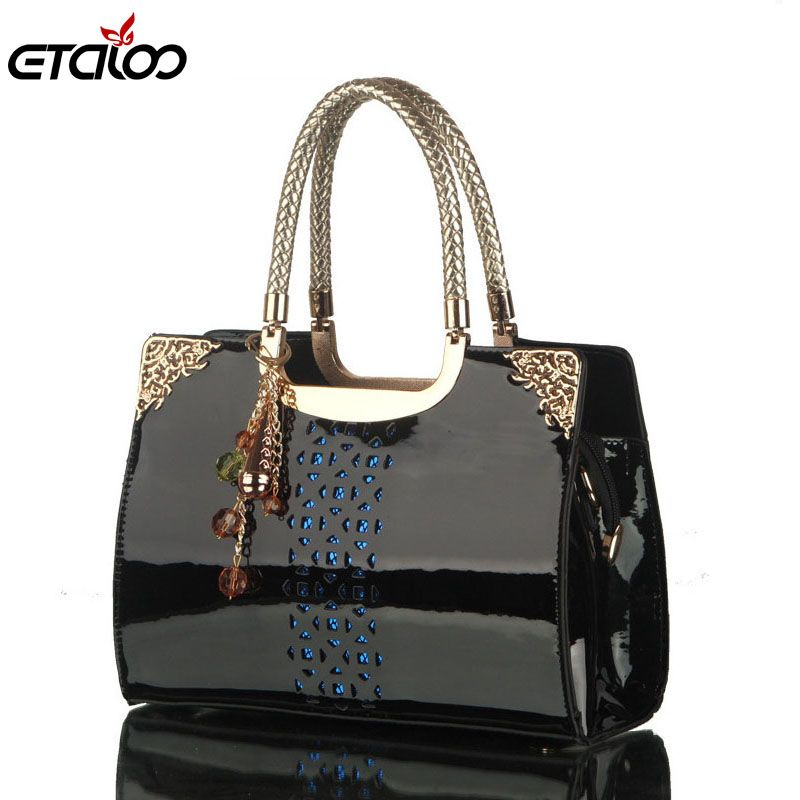 Women leather handbags women bag the new brand handbag patent Korea fashion single shoulder bag