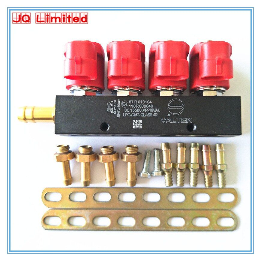 Silent high speed CNG LPG Injector Rail 3Ohms for 4cylinder Sequential injection System Common Injector Rail and accessories
