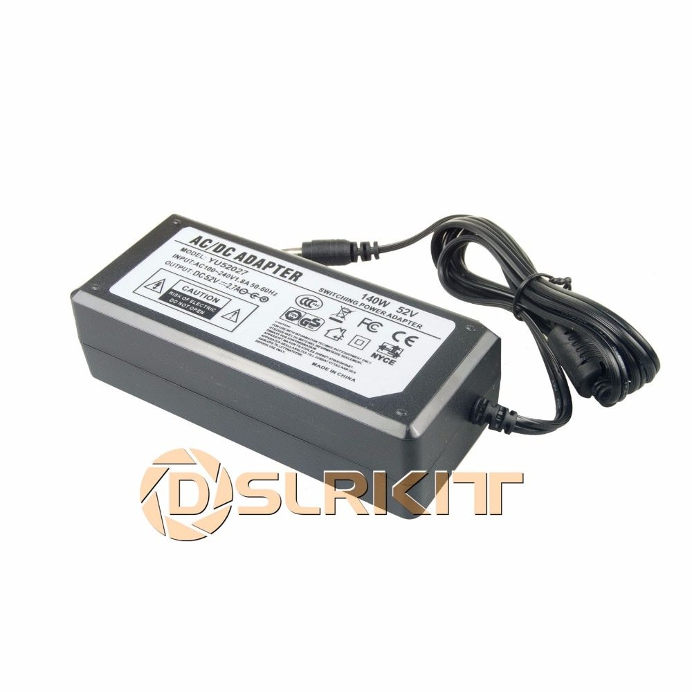 52V 2.7A 140Watt AC to DC Power Supply Adapter 100-240V for PoE Switch Injector