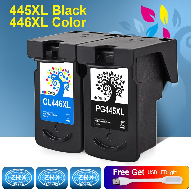 H&BO Re-manufactured Ink Cartridge Replacement for PG445XL CL446XL for Canon Pixma IP 2840 MG 2440 2540 2940 MX 494