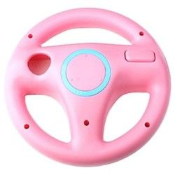 Hot Sale New Fashion Steering Wheel For Nintendo Wii Mario Kart Remote Controller Racing Games Pink Free Shipping