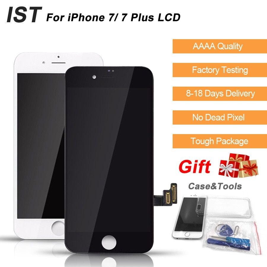 AAAA 100% IST Original LCD For iPhone 7 Plus LCD Display Touch Digitizer Screen 4.7 5.5 Quality Replacement Original Screen LCDS