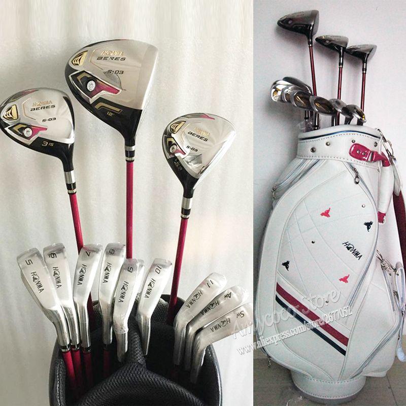 Neue frauen Golf Clubs Honma S-03 3 sterne Komplette clubs set Golf Stick + Clubs holz + eisen Graphite Golf welle und tasche Kostenloser versand