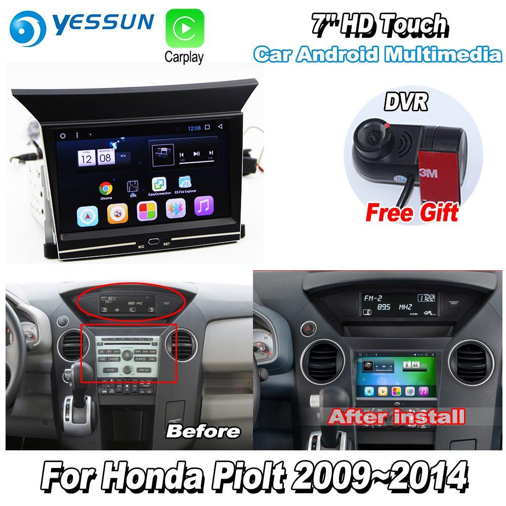 YESSUN Für Honda Pilot 2009 ~ 2014 Auto Android Carplay GPS Navi maps Navigation Player Radio Stereo Multimedia HD Bildschirm KEINE CD DVD