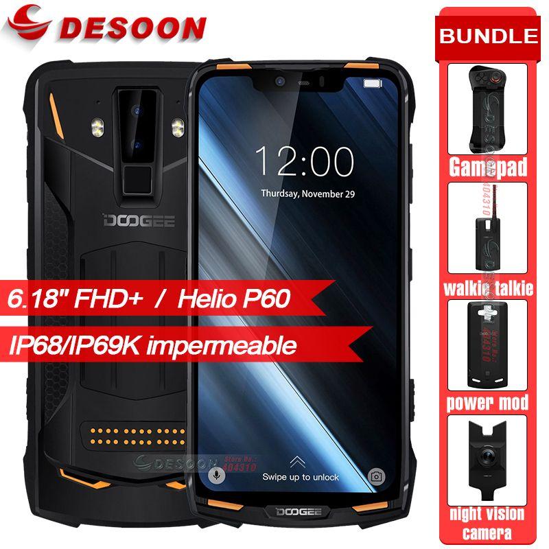 Original DOOGEE S90 IP68/IP69K Wasserdicht stoßfest 5050 mAh 6,18 ''MT6671 6 GB 128 GB Smartphone 16MP Kamera