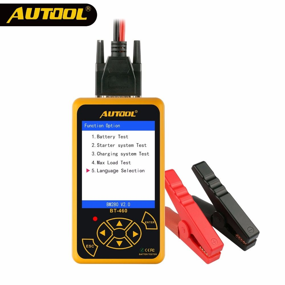 AUTOOL BT460 Car Battery <font><b>Tester</b></font> 12V 24V Heavy Duty Colorful Display Multi-Languages Cell Test Car Tools High Quality Analyzer