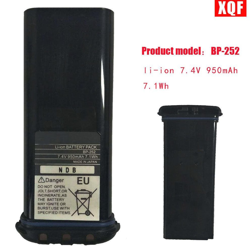 XQF li-ion 7.4V 950mAh 7.1Wh BATTERY For ICOM BP252 l M34 M36 REPLACES BP241 Radio