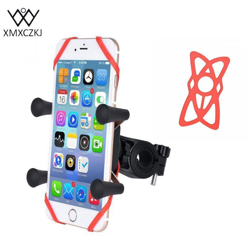 XMXCZKJ universel x-grip téléphone portable vélo moto support de support de téléphone portable vélo accessoires pour iPhone Samsung Xiaomi HTC Gps