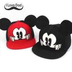 2018 Hot Mickey ear hats children snapback Caps baseball Cap with ears Funny Hats spring summer Autumn hip hop boy hats caps