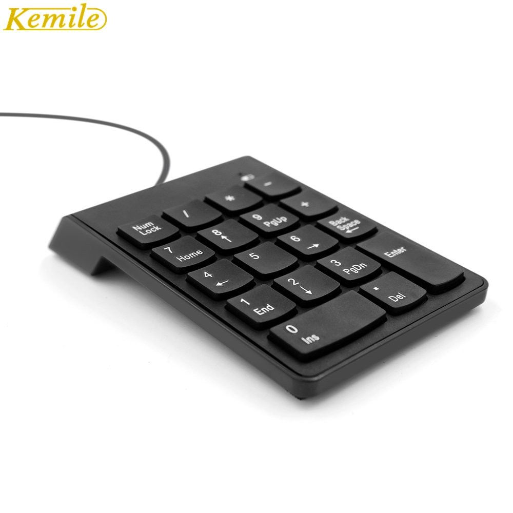 Kemile filaire Mini clavier numérique USB Numpad 18 touches clavier numérique pour iMac/MacBook Air/Pro ordinateur portable PC portable de bureau