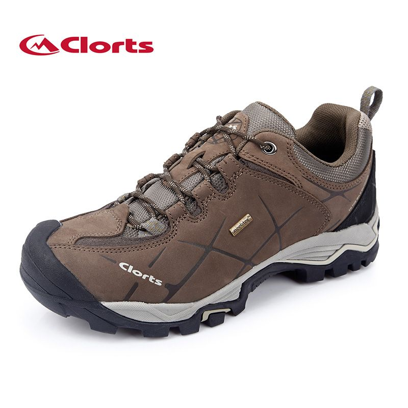 2018 Clorts Hiking Shoes for Male Real Leather Non-slip Outdoor Hiking Boots Trekking Shoes Waterproof Sport <font><b>Sneakers</b></font> HKL-805A