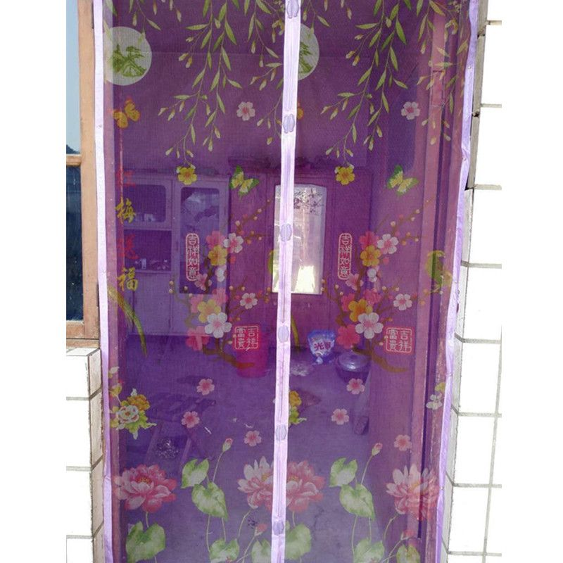 Summer coffee BugMesh Screen DOOR curtains Magnetic curtain Net Screen Anti Mosquito Bug Fly Home Gate Door Magic 100*210 90*210