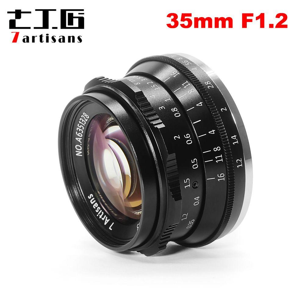 7 handwerker 35mm F1.2 Prime Objektiv für Sony E-mount/für Fuji XF APS-C Spiegellose Kamera Manuelle fixiert konzentrieren Objektiv A6500 A6300 X-A1