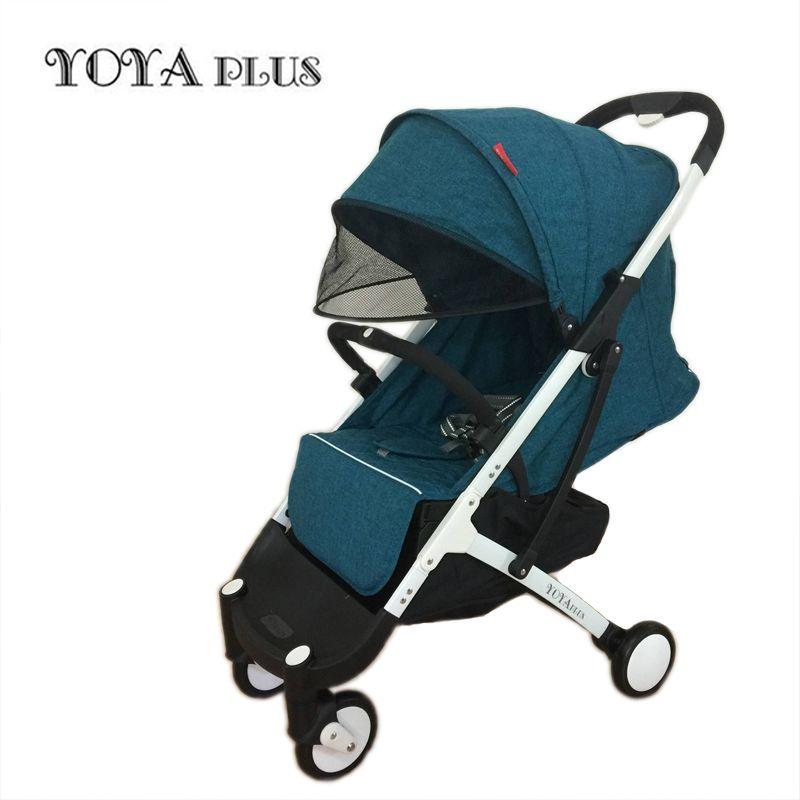 Yoyaplus baby kinderwagen ultra-light falten können sitzen können liegen hohe-ende landschaft regenschirm baby trolley sommer und winter
