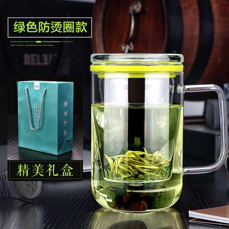 Créatif Gentleman verre thé tasse verre filtre bureau voyage eau thé cristal tasse artisanat Borosilicate verre tasse couvercle sans BPA