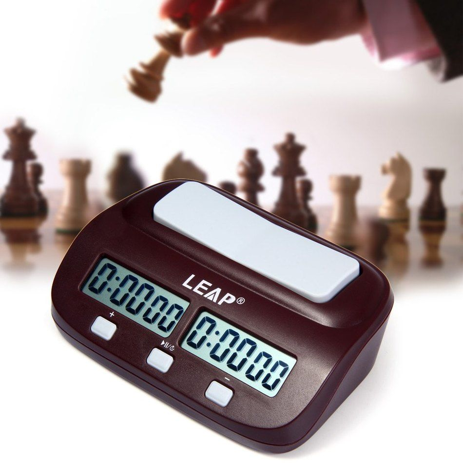 LEAP Digital Professional Chess Clock Count Up <font><b>Down</b></font> Timer Sports Electronic Chess Clock I-GO Competition Board Game Chess Watch